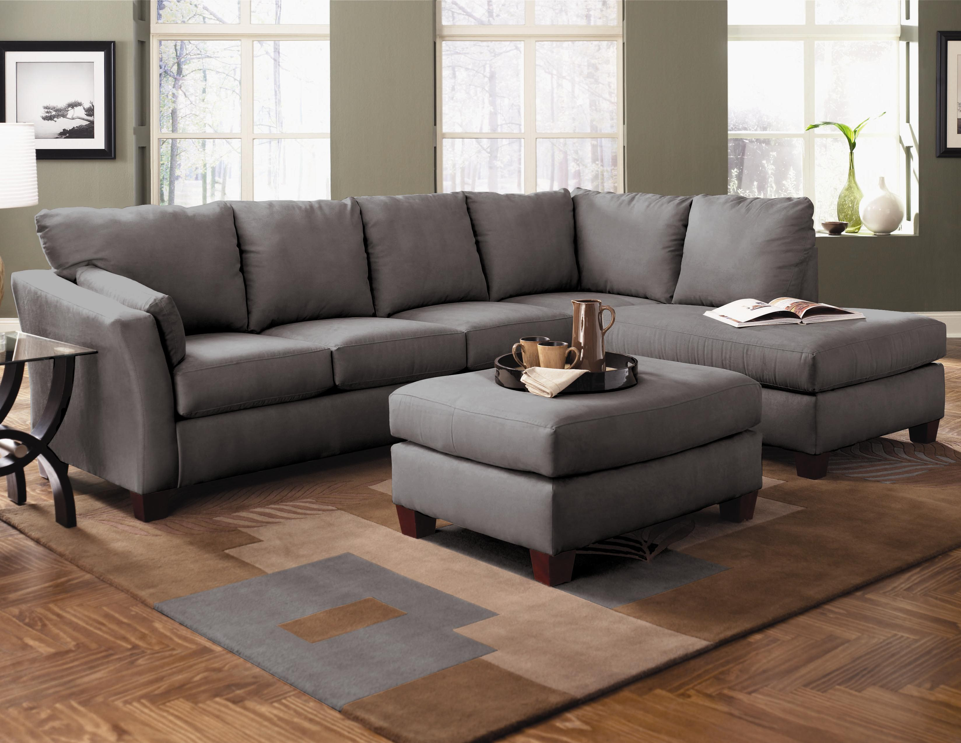 Klaussner Drew Two Piece Sectional Sofa With Chaise - Value City Furniture - Sectional Sofas : klaussner drew sectional - Sectionals, Sofas & Couches