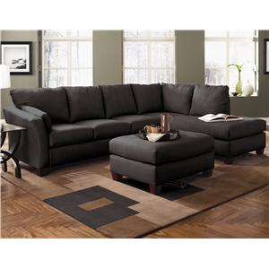 Klaussner Drew Two Piece Sectional Sofa With Chaise