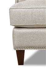 Tapered Legs and Nailhead Trim Detail