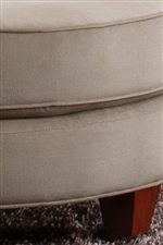 Welts on Round Ottoman Cushions