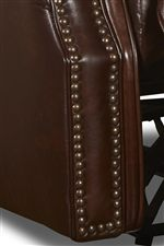 Nailhead Trim Down Front of Chair