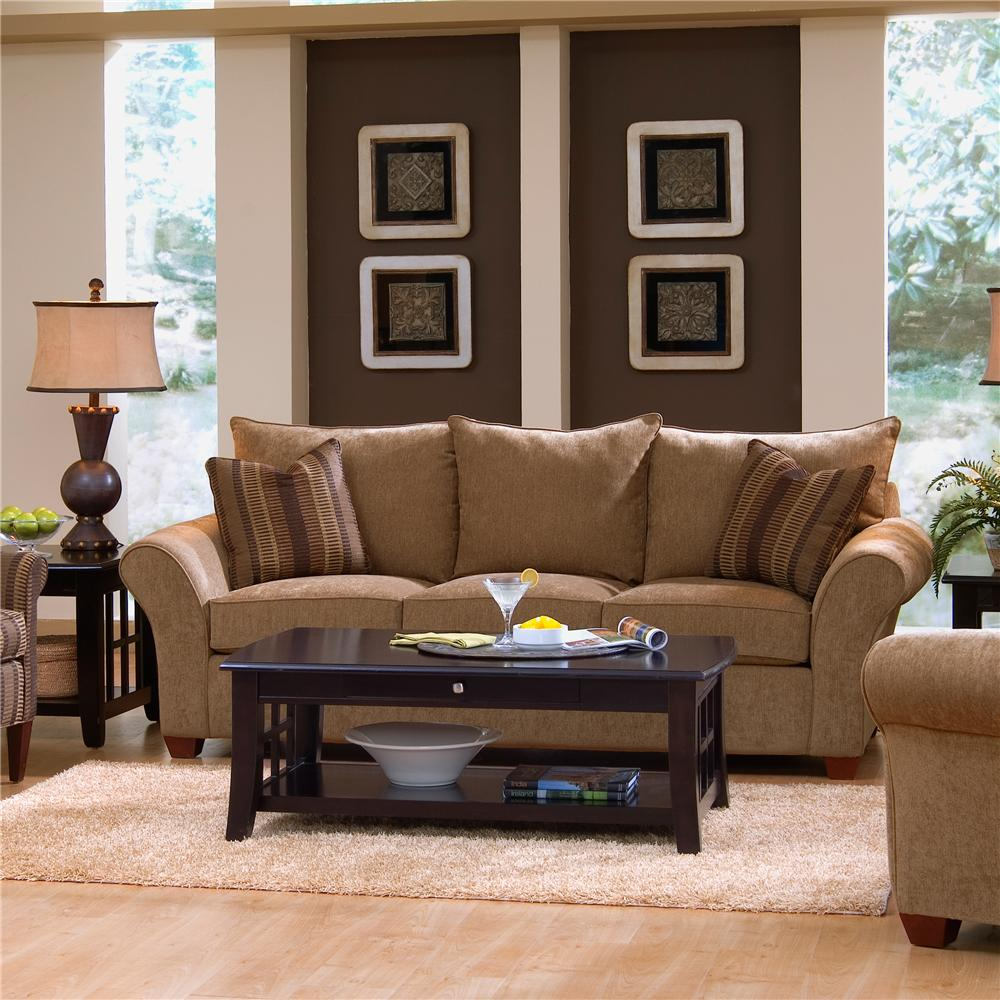 Klaussner Fletcher Comfortable Stationary Couch | Wayside Furniture | Sofas