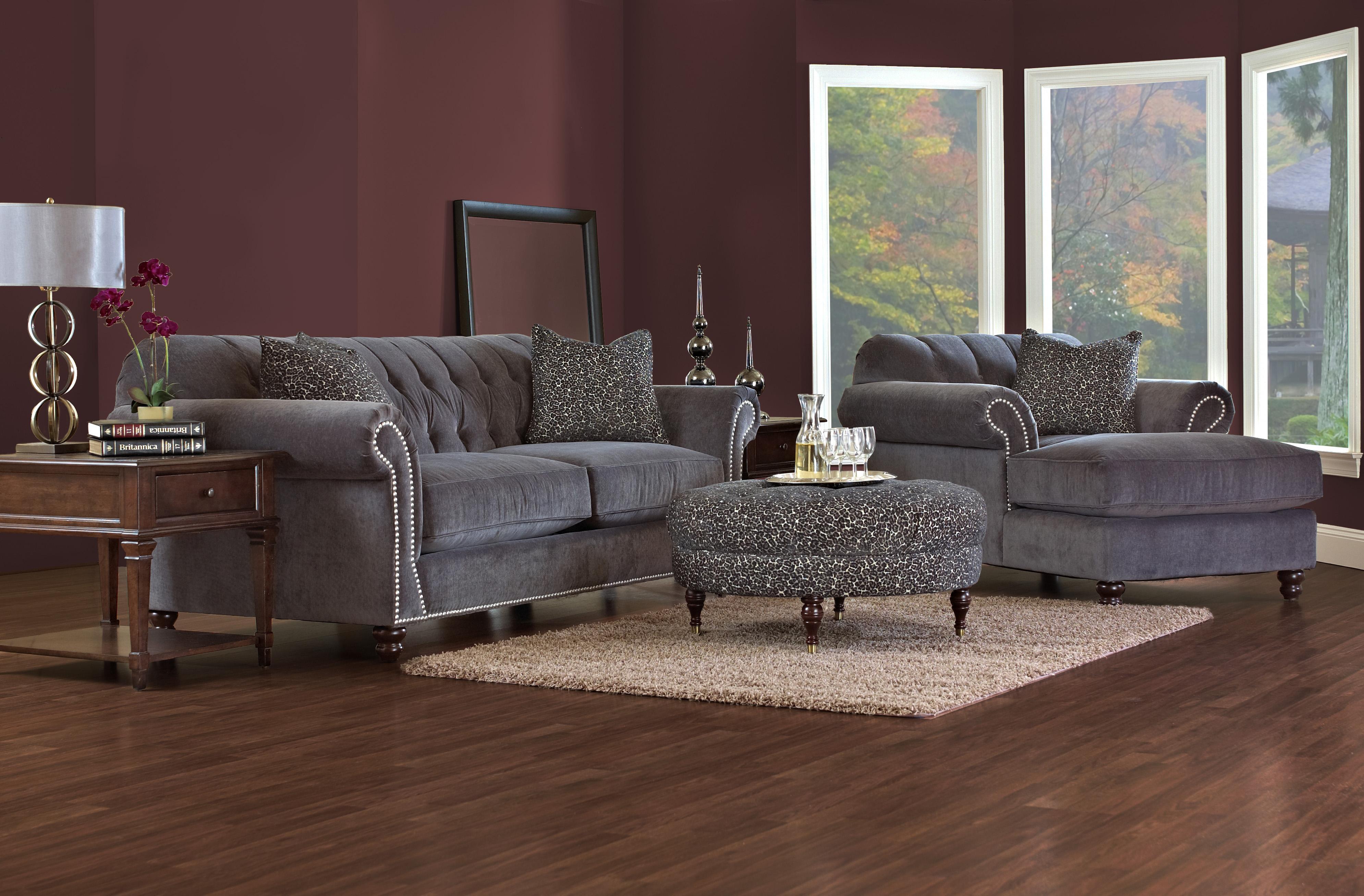 Klaussner Flynn Stationary Living Room Group - Item Number: D90910 Living Room Group 1