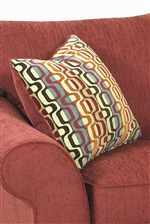Square Accent Pillows Add a Pop of Color and Texture to Sofas, Loveseats and Sleepers