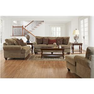 Klaussner Greenvale Traditional Loveseat with Rolled Arms