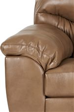 Pillow top arms add that extra comfort for you to rest your body on.