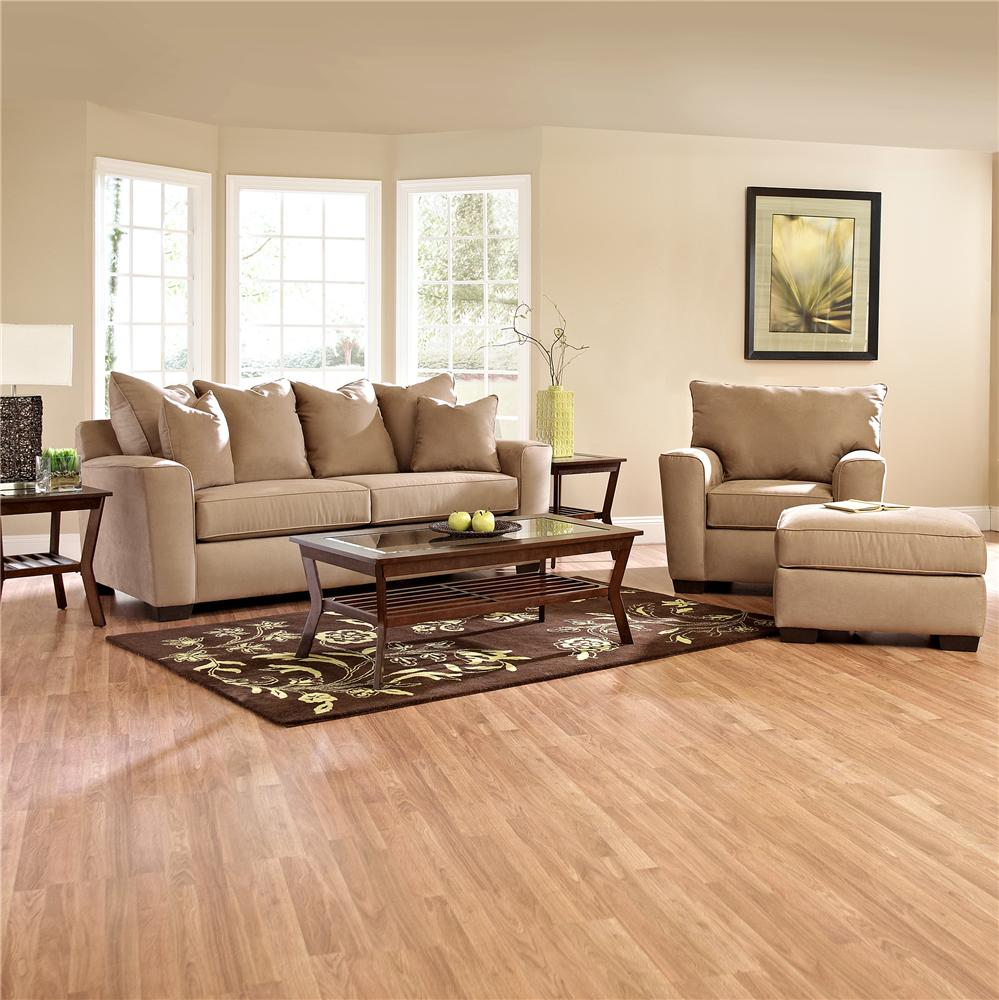 Klaussner Heather Stationary Living Room Group - Item Number: E560 Living Room Group 2