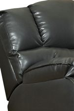 Pillow Top Arms and Split Seat Back with Separated Headrest