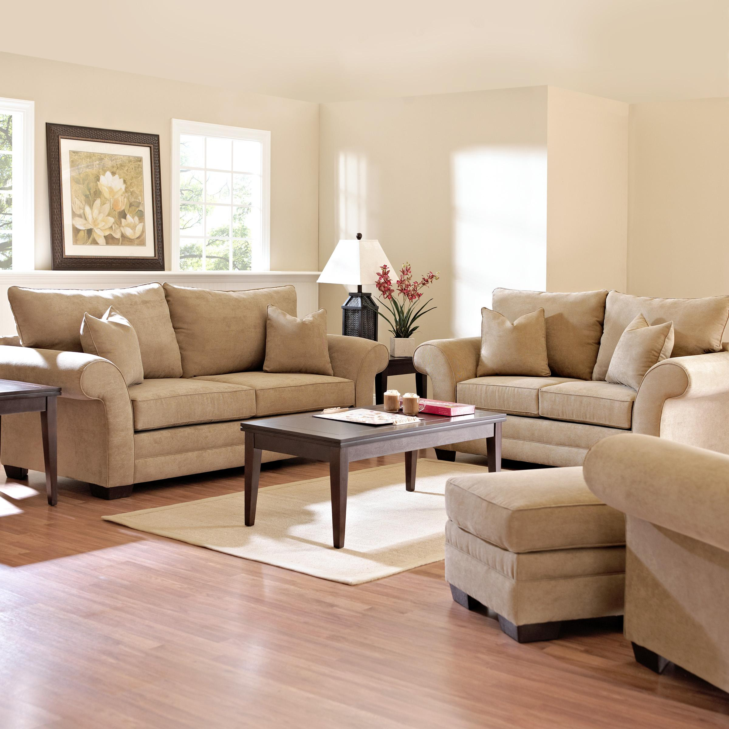 Klaussner Holly Stationary Living Room Group - Item Number: E769 Living Room Group 1