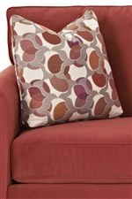 Toss pillows add extra cushion and comfort.