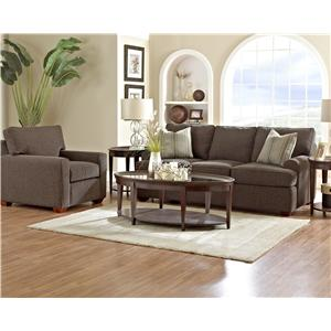 Elliston Place Hybrid Casual Stationary Sofa with Arched Track Arms