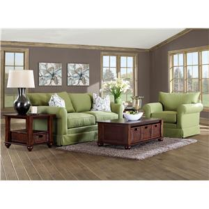 Elliston Place Jenny Transitional Full Size Innerspring Sleeper Sofa with Rolled Arms