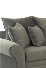 Luxurious Plethora of Pillows in Neutral, Solid Color