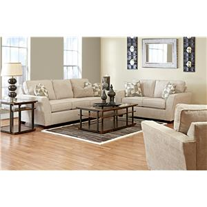 Elliston Place Kent Casual Loveseat with Flared Arms