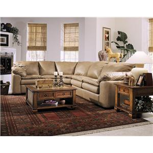 Elliston Place Legacy Left Arm Reclining Love Seat and Sleeper Sofa Sectional