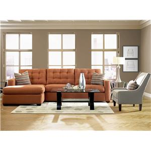 Elliston Place Lido  Contemporary Sectional Sofa with Right Facing Chaise Lounge