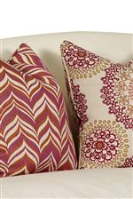 Curved Camel Back and Loose Accent Pillow Cushions