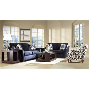 Elliston Place Linville Contemporary Sofa with Flared Arms