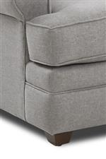 All Pieces Feature Low-Profile Base with Tapered Feet