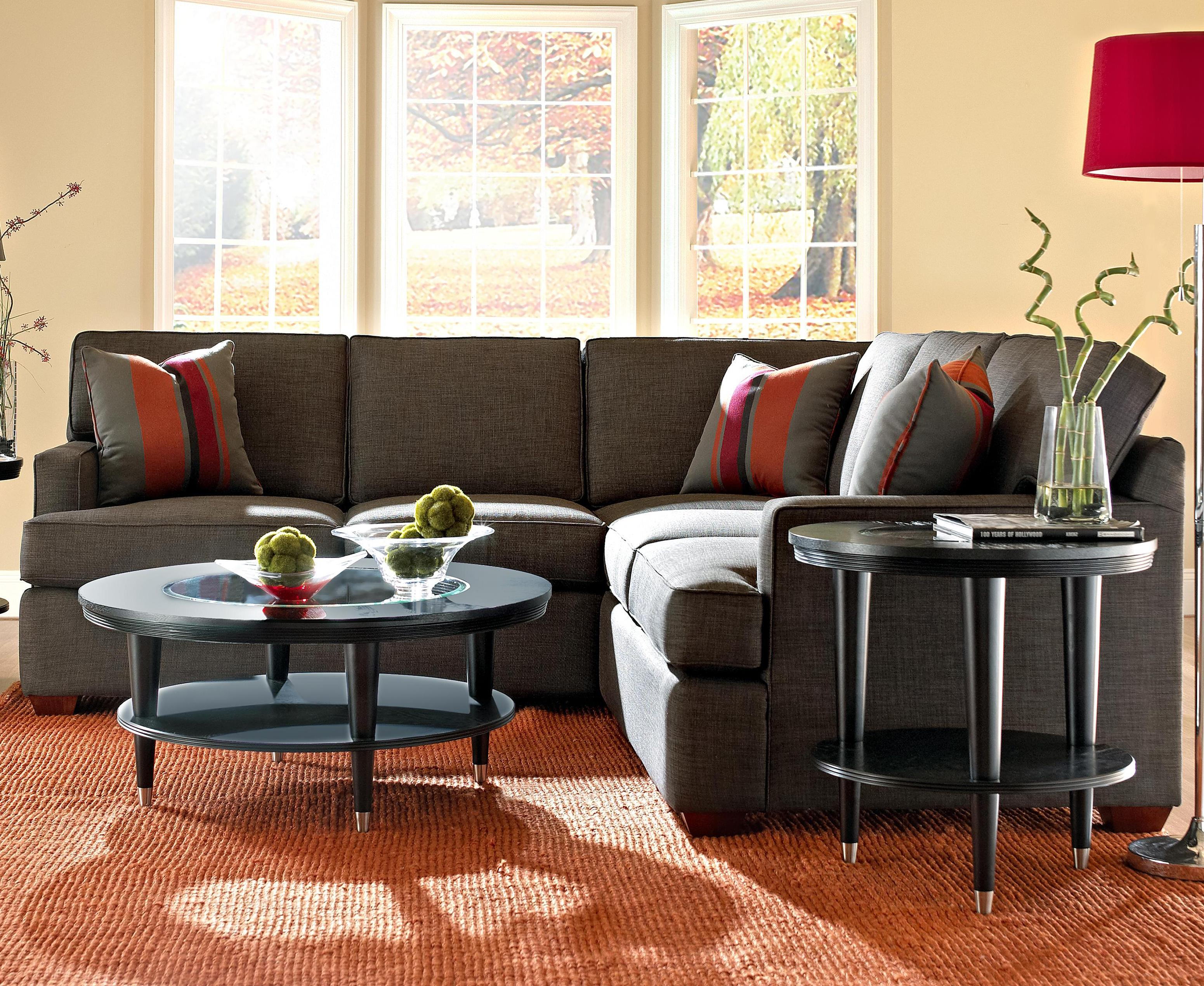 Klaussner Loomis Sectional Sofa Group with Chaise Lounge Wayside