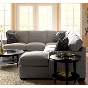 Klaussner Loomis Contemporary Sofa with Track Arms