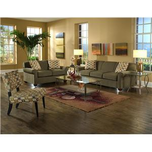 Elliston Place Mayhew Upholstered Chair and Ottoman