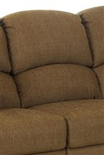 Horizontal Split Back Cushions Create Lumbar Support
