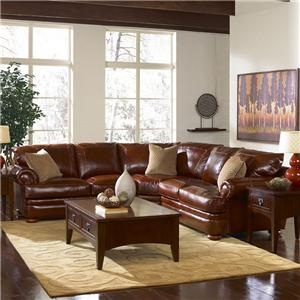 Elliston Place Montezuma Leather Loveseat with Rolled Arms