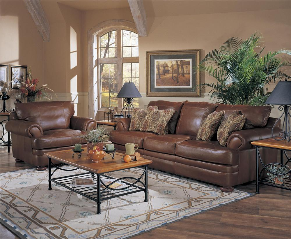 Klaussner Montezuma Leather Sofa With Rolled Arms Stuckey Furniture