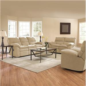 Elliston Place Sanders Contemporary Upholstered Reclining Love Seat