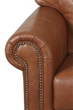 Rolled Arms Feature Nailhead Trim