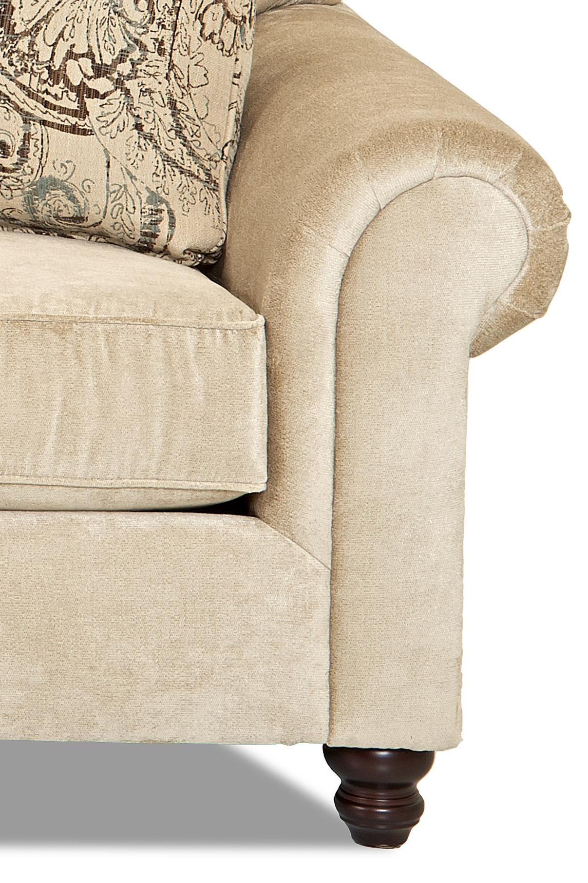 Klaussner Sinclair Traditional Big Chair With Tufted Back | Wayside  Furniture | Chair U0026 A Half