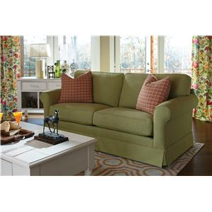 Elliston Place Southern Shores Traditional Sofa with Rolled Arms and Slip Cover