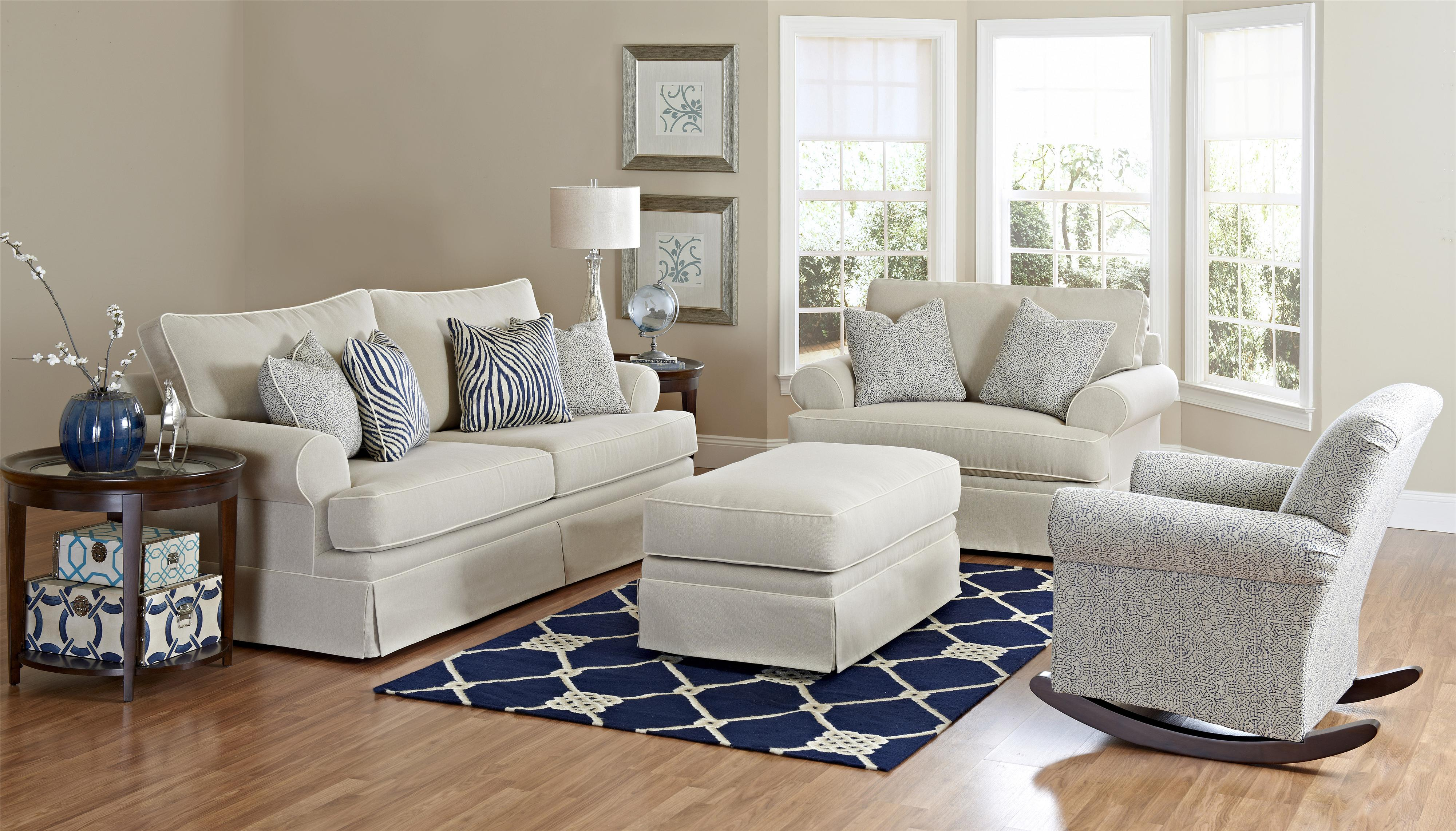 Klaussner Westerly Living Room Group Value City Furniture Stationary Living Room Groups