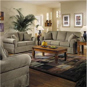Elliston Place Woodwin Casual Skirted Sofa