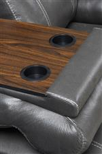 Built-in Table and Cupholders on Sofa