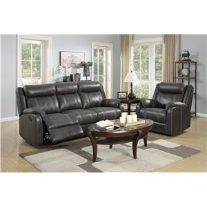 Klaussner International  Domino-US Reclining Living Room Group