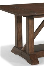 Trestle Base with Wood Paneled Top