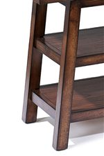 Sawbuck-Style Legs Have Slight Angle and Create a Rustic Look
