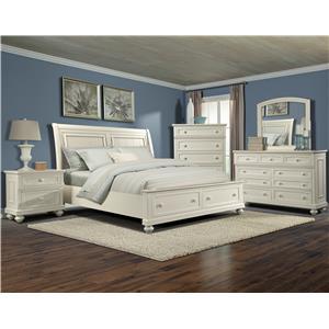 Klaussner International Whittington White Queen Bedroom Group