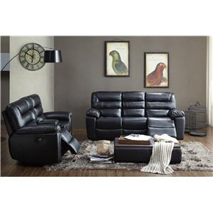 BFW Lifestyle 1711 Casual Glider Recliner with Plush Pillow Arms