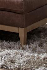 Splayed Legs in a Natural Finish add Rustic Appeal