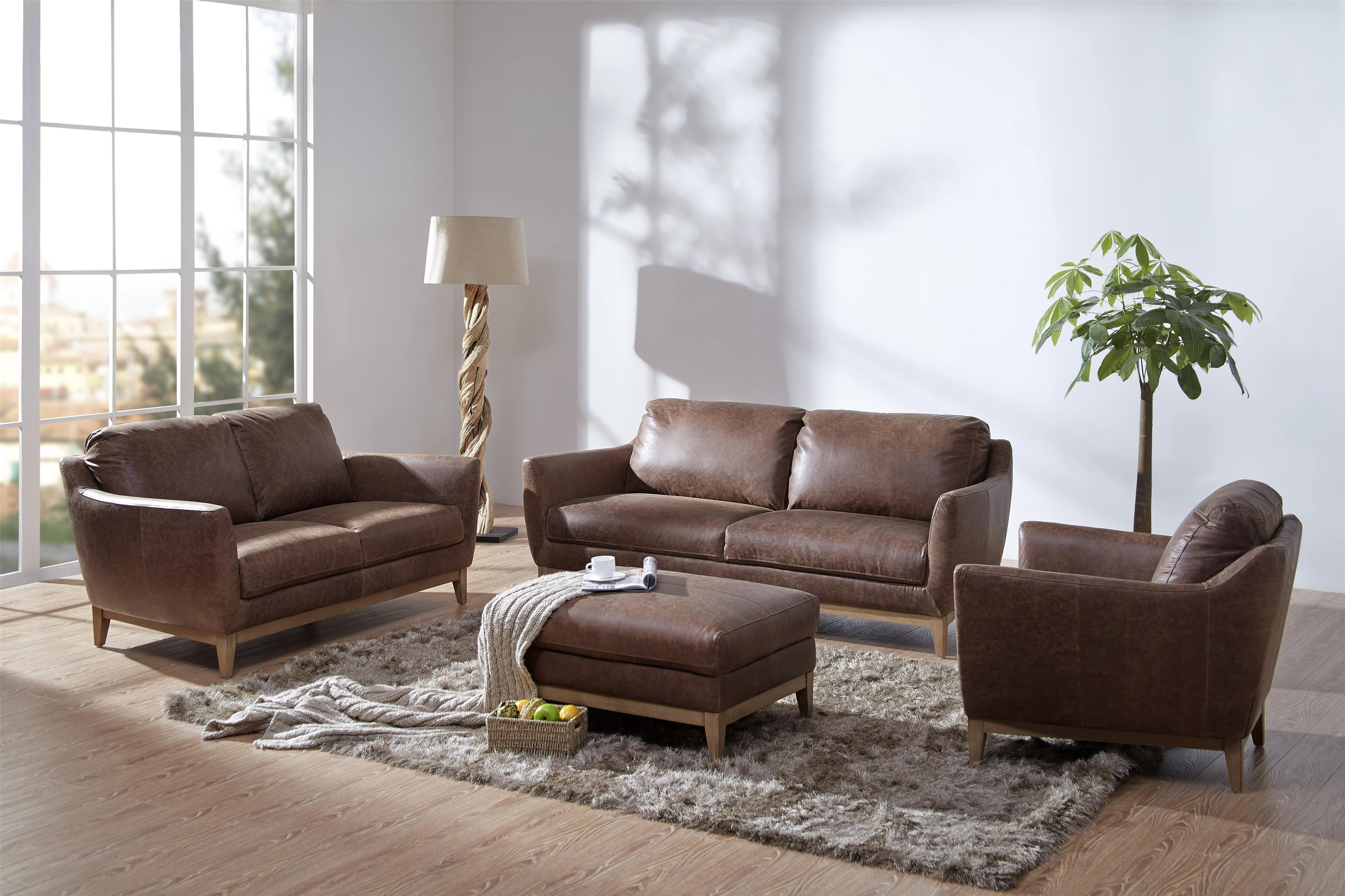 Kuka Home Baker Loveseat with Splayed Legs Wilson s Furniture