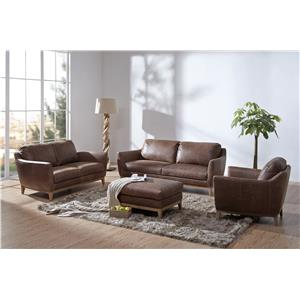 Urban Evolution Baker Stationary Leather Living Room Group