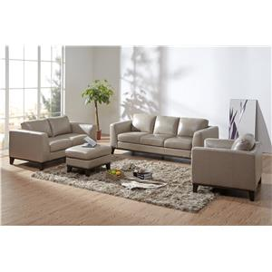 Urban Evolution Corbin Sofa with Thick Track Arms