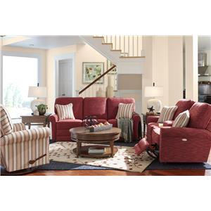 La-Z-Boy Addison Transitional Reclining Loveseat with Cupholder and Storage Console