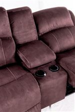 Console Loveseat Comes Equipped with Lift-Top Storage Space and Two Cupholders
