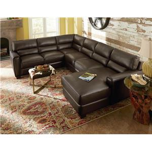 La-Z-Boy BRODY Two Piece Contemporary Leather Sectional Sofa