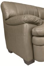 Pillow Topped Track Arms and Seam Stitched Sides Attest to Quality and Casual Style