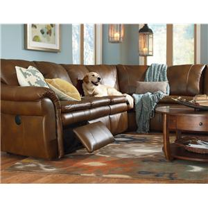La-Z-Boy Devon  5 Pc Power Reclining Sectional Sofa with Cupholders and RAS Recliner